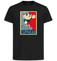 T-Shirt Black - Propaganda Cuphead - Cuphead