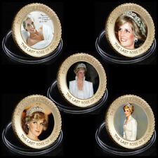WR 5PC Princess of Wales Lady Diana Gold Coin Set Christmas Gifts for Girlfriend