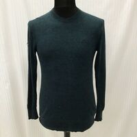 Mens Superdry Green Toned Knit Jumper Size Small Knitwear