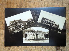 RPPC X Mas Greeting Sagamore Beach Ma 1914
