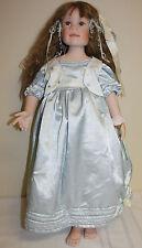 "Linda Murray Brown Hair Blue Eye Porcelain Doll 27"""