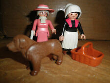 Playmobile 5500 Victorian Ladies with Dog complete EUC Goes with 5300 Mansion
