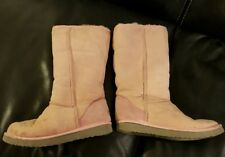 Authentic Ugg sheepskin boots baby pink tall uk6
