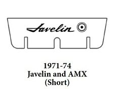 1971 1974 AMC Javelin Trunk Rubber Floor Mat (Short) Cover Kit w/ A-005 Javelin