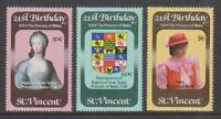 St Vincent - 1982, Princess of Wales 21st Birthday set - MNH - SG 694/6