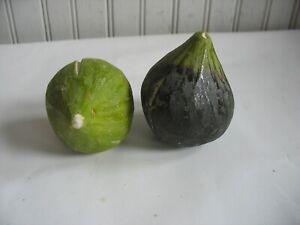 PR Antique Italian Alabaster Stone Fruit Marble Green Figs Marble Fruit