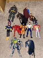 10x Action Figure Bundle Job Lot - DC Comics - Batman - Robin - Superheroes (6)