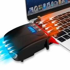 Laptop Cooler Cooling Pad Laptop Fan Cooler Notebook Temperature Display Rapid