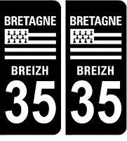 2 stickers style plaque immatriculation AUTO black édition noir et blanc 35