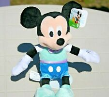 Disney Mickey Mouse Spring Blue clothes Small 7 inch Plush Stuffed Toy ~ New