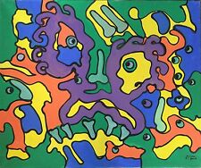 "Franz J. Blank: ""MODERNE KOMPOSITION"", 101cm x 120cm, Öl/Leinwand, Moderne Kunst"