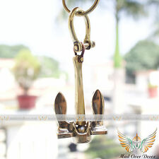 Brass Anchor & Shackle Key Chain Key Ring Navy Nautical Ships Maritime