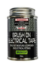 BRUSH ON ELECTRICAL TAPE LIQUID INSULATOR PROTECTION SEALANT 118ML BLACK