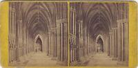Cattedrale Da Lichfield UK Foto Stereo Vintage Albumina Ca 1870