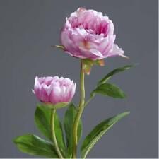 Ø8-10cm Blütenzweig 70cm artplants Künstlicher Pfingstrosen Zweig MANJA weiß