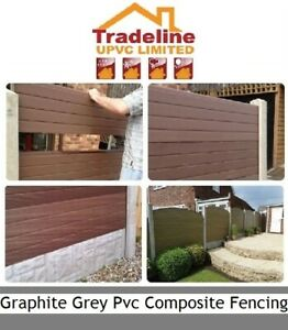 Graphite Grey Upvc Plastic Fence Panels Fit Them into your existing Posts.