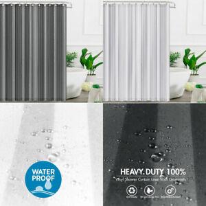 Hotel Quality Thick Waterproof Drape 100% Vinyl Fabric Bathroom Shower Curtains