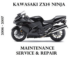 Kawasaki ZX14 Ninja ZZR ZX 1400 Workshop Service Repair Manual 2006 2007