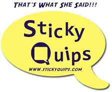 Sticky Quips Speech Bubble/Balloon Sticky Notes for when you're in a fun mood!!!