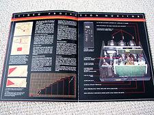Harman Kardon VPM-500 projection TV / VCR brochure