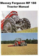 MASSEY FERGUSON MF188 OPERATIONS MAINTENANCE MANUAL for MF 188 Tractor Repair