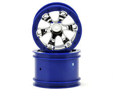 "Traxxas 1/16 Mini E-Revo Summit 2.2"" Geode Blue 12mm Hex Wheel Rims (2) #7273"