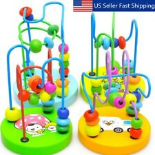 1Pc New Children Kids Baby Colorful Wooden Mini Around Beads Educational