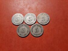 5 reich pfennig # années différentes # ( 140-0819 )