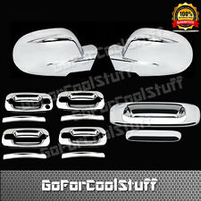 For 00-06 Chevy Silverado Sierra Chrome Full Mirror Door Handle Tailgate Cover