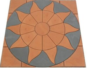 Aztec 1800mm Slate Grey/Terracotta Inc Terracotta  Infil Paving Kit Inc Del