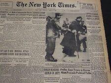 1953 APRIL 21 NEW YORK TIMES - CAPTURE EXCHANGE RESUMES IN KOREA - NT 4607