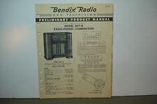 BENDIX RADIO SERVICE MANUAL MODELS 847-B (8 PAGES)