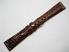 Genuine Louisiana Alligator mens Watch Band 20 mm R glazed cognac MADE IN U.S.A