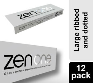 Zen One Condoms, Ribbed & Dotted Large and Luxurious