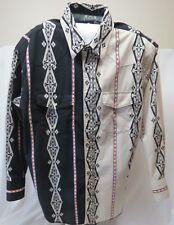 Vtg Wrangler Mens 2XL Southwestern Aztec Pearl Snap Western Cowboy Shirt