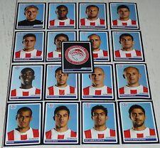 OLYMPIAKOS HELLAS COMPLETE TEAM PANINI FOOTBALL UEFA CHAMPIONS LEAGUE 2006 2007