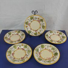 SET OF 5 - PIER 1 (ONE) CHATEAU NAPA  PATTERN 8 3/4 INCH SALAD PLATES