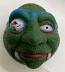 Green Vampire Troll Monster Rubber Ball KO Knock Off Mad Ball Eye Pop Fangs