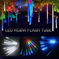 Outdoor 30/50cm LED Meteor Shower Lights 8 Tubes Falling Rain Icicle Party 2021