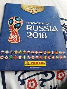 Panini WORLD CUP 2018 RUSSIA - Empty Sticker Album - New & Unused c/w 6 stickers