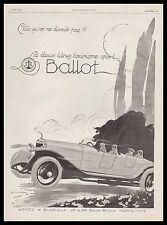 PUBLICITE   BALLOT 2 LITRES TOURISME SPORT   AUTOMOBILE CAR   AD  1925 - 2H