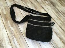 KIPLING Black Nylon Small 3 Pocket Adjustable Strap Crossbody Purse Bag