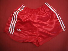 Short Adidas Rouge Vintage satin brillant nylon Oldschool 80'S Ventex - S