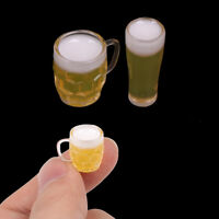 2Pcs 1:12 beer dollhouse miniature toy doll food kitchen living room accessor md