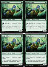 4x JUNGLE DELVER Ixalan MTG Green Creature — Merfolk Warrior Com