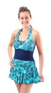 KesVir Ladies Incontinence Skirt Swimsuit in 8 Sizes -  Ethnic Flor-Marino