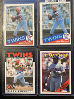(2)1985 Topps Kirby Puckett Minnesota Twins RC #536 /4 Cards W/ 1986 Topps