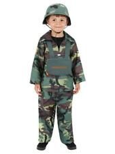 Child Army Boy Costume Soldier Fancy Dress Outfit