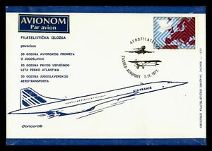 DR WHO 1977 LATVIA FIRST FLIGHT AIR FRANCE CONCORDE ZAGREB  f94928