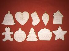 100 pcs GINGERBREAD CHRISTMAS SHAPES  mix of WOODEN HANGING CRAFT TAGS